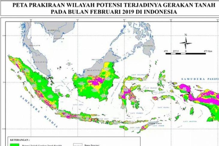 Kementerian ESDM Terbitkan Peta Potensi Gerakan Tanah Februari 2019