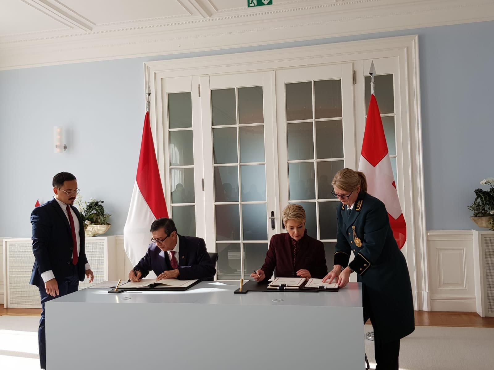 RI – Swiss Tanda Tangani Perjanjian MLA