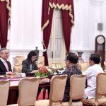 Presiden Jokowi Menerima Menlu Thailand di Istana Merdeka