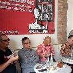 Rumah Gerakan 98: Jangan Pilih Presiden Yang Miliki Beban Sejarah Kelam