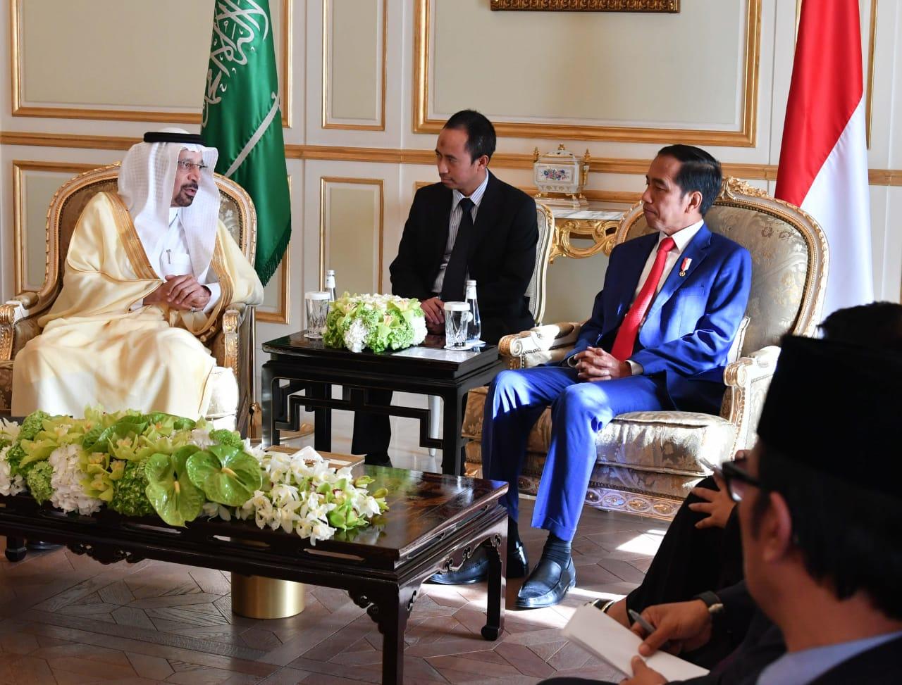 Presiden dan Menteri Energi Arab Saudi Bahas Kerja Sama di Bidang Energi