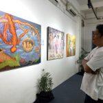 Melalui Lukisan, Woro Sampaikan Kehebatan Perempuan