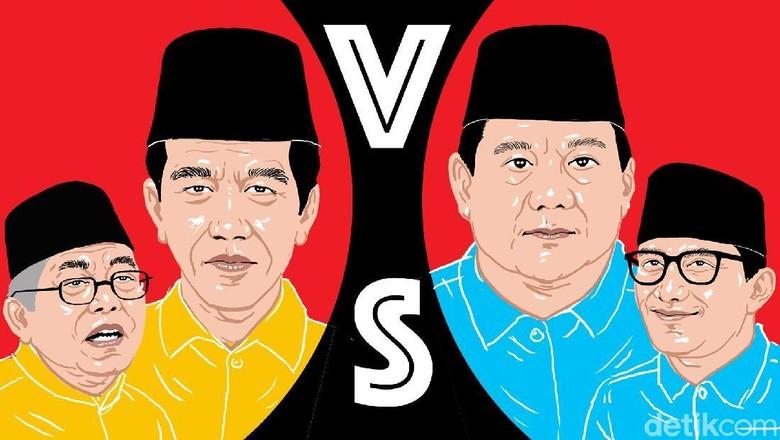Real Count KPU, Jokowi Raih 55,71 Persen Suara