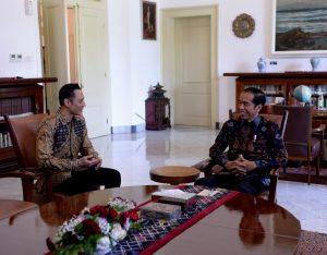 Presiden Bertemu AHY di Istana Bogor