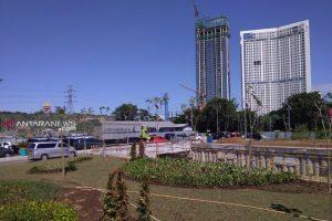 Underpass Bundaran Satelit Surabaya Dipercantik Sejumlah Taman