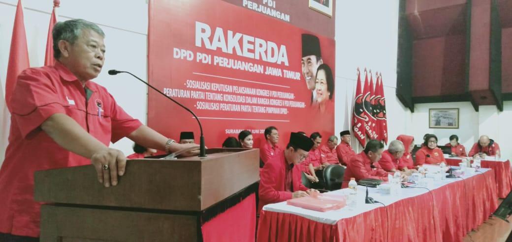 PDI Perjuangan Jatim Deklarasi Dukung Megawati Kembali Menjadi Ketua Umum