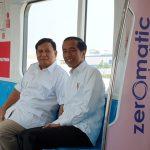 Jokowi Bertemu Prabowo di MRT Lebak Bulus