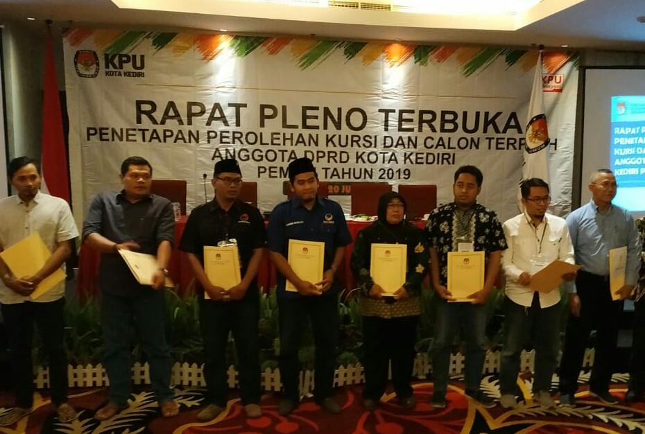 Sempat Tertunda, KPU Kota Kediri Tetapkan Perolehan Kursi dan Calon Anggota DPRD