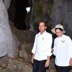 Presiden dan Ibu Iriana Susuri Gua Batu Cermin di NTT