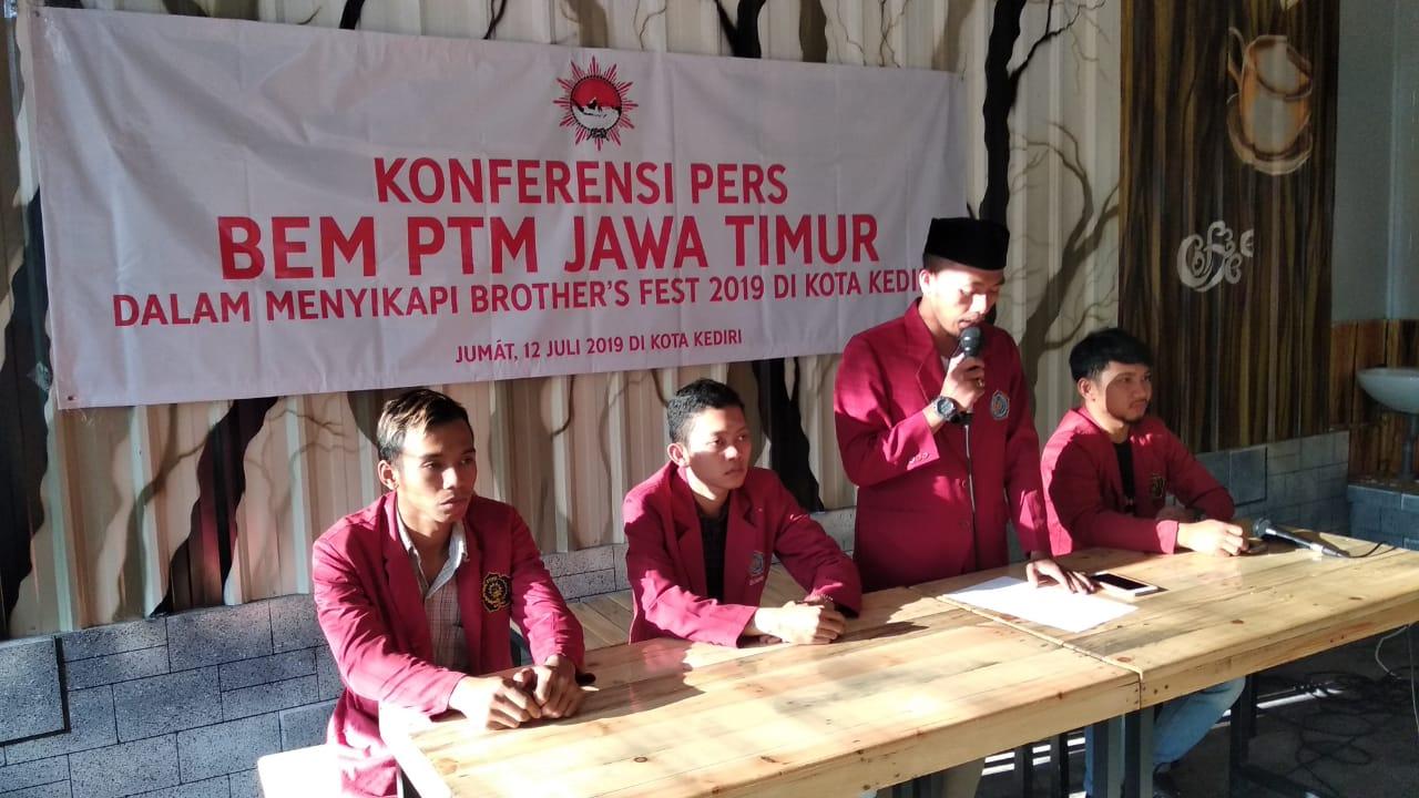 BEM Muhammadiyah Tolak Penyelenggaraan Brother's Fest 2019 di Kediri