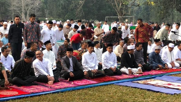 Presiden Salat Iduladha di Kebun Raya Bogor