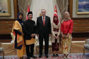 Dubes Iqbal Serahkan Surat Kepercayaan kepada Presiden Erdogan