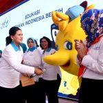 Ibu Negara Tinjau Kali Bahagia dan Sosialisasikan Gerakan Indonesia Bersih