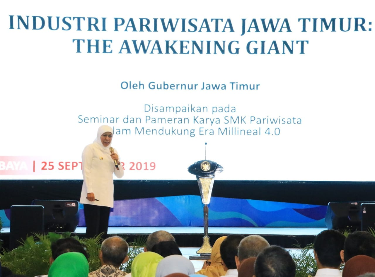 Khofifah : Industri Pariwisata Jatim Sebagai The Awakening Giant