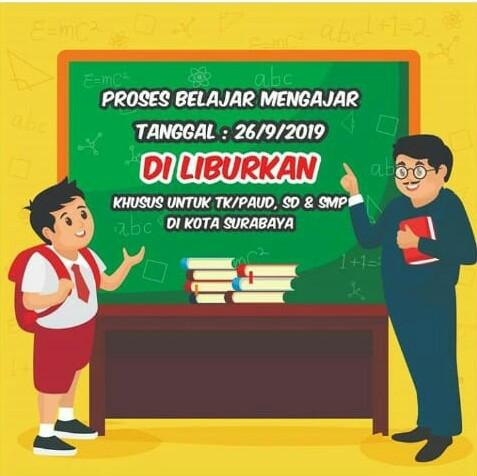 Aksi Demo, Dispendik Surabaya Liburkan Pelajar TK Hingga SMP