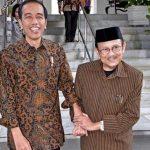 Presiden Jokowi Jenguk B.J. Habibie