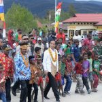 Kunjungan Kerja Presiden di Pegunungan Arfak