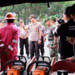 Polresta Sidoarjo Dirikan Pos Komando Tanggap Bencana di Sungai Porong