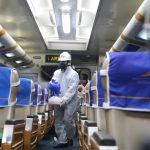 Daop 8 Surabaya Rutin Lakukan Pembersihan dan Penyemprotan Disinfektan pada Area Stasiun dan Sarana Kereta