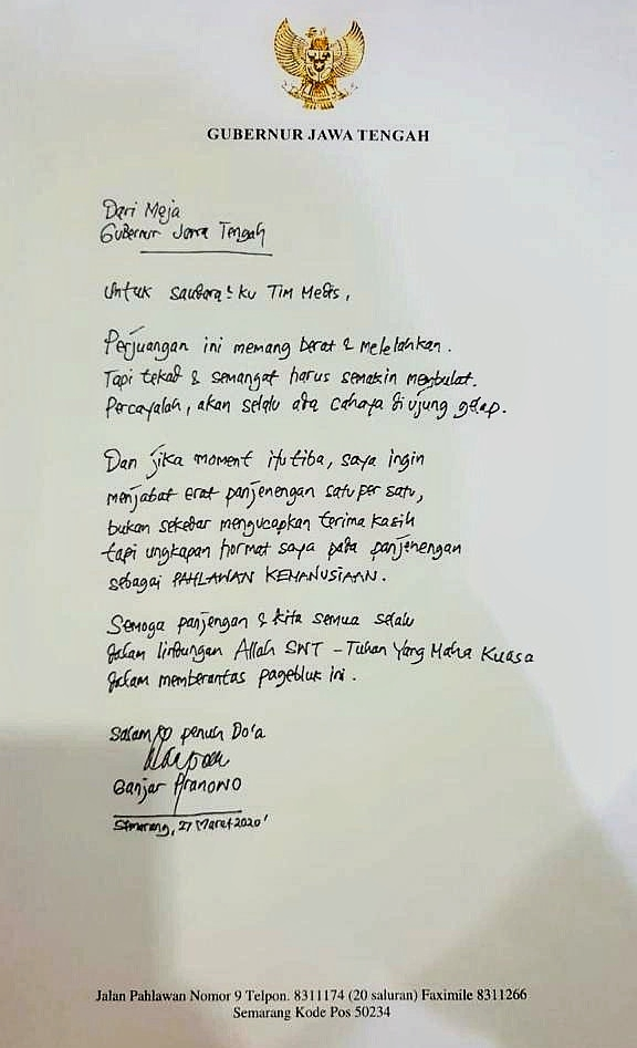 Surat untuk Pahlawan Kemanusiaan