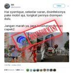 Disinformasi Foto Risma Menyemprotkan Disinfektan Hingga Hoax Berjemur untuk Bunuh Virus Corona