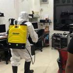 Penyemprotan Disinfektan di Kantor DPD PDI Perjuangan Jatim