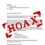 Hoax Surat Undangan Doa Bersama Pengasuh Ponpes di Grahadi