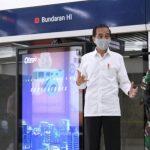 Presiden Tinjau Kesiapan Pendisiplinan Protokol Kesehatan di Stasiun MRT