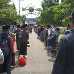 Sambut Kedatangan Santri, Ponpes LirboyoTerapkan Protokol Kesehatan