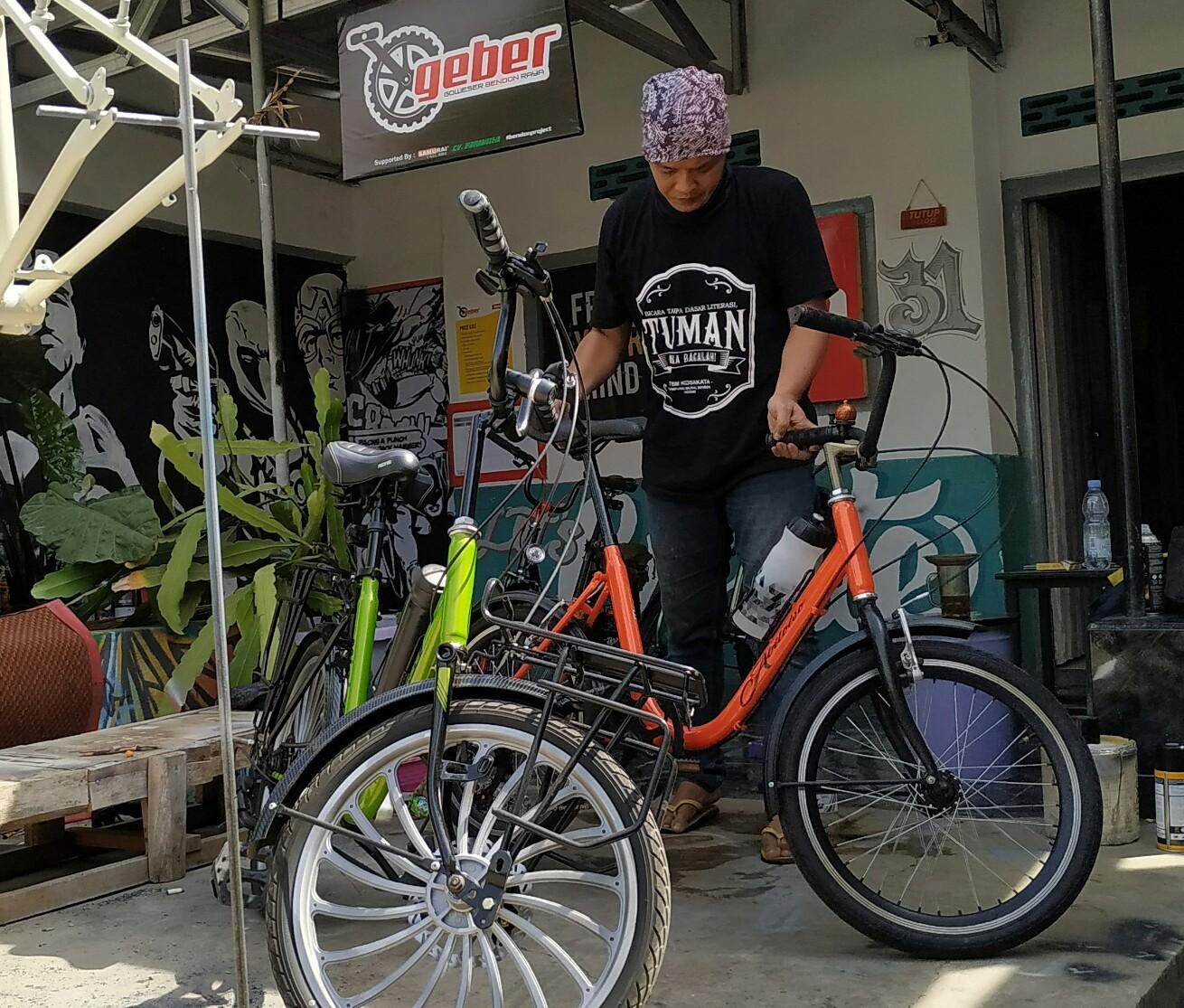 Sepeda Jenis Mini Track dan Minion Banyak Digandrungi Pesepeda di Kediri