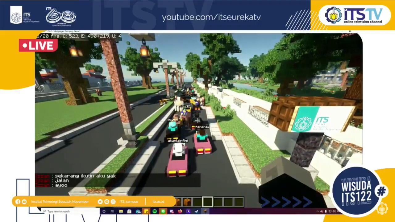 Arak-arakan Virtual dan Program Berbagi Meriahkan Wisuda ITS ke-122