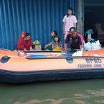Banjir Pasuruan, BPBD Jatim Kirim Bantuan Perahu Karet