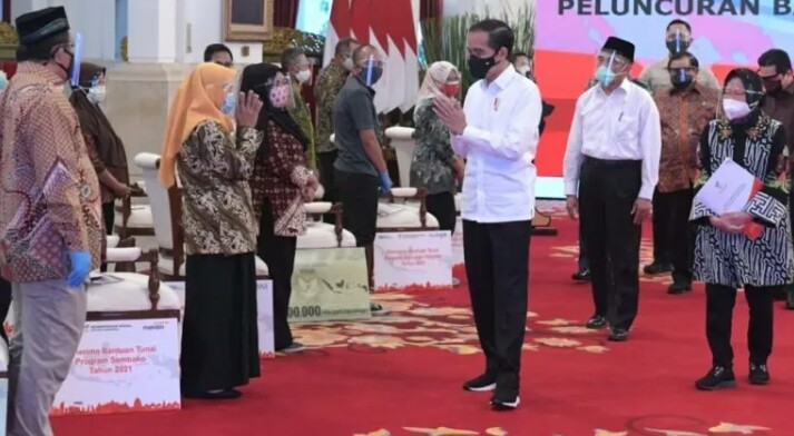 Presiden Luncurkan Bantuan Tunai Tahun 2021 se-Indonesia