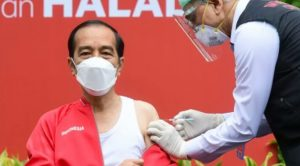 Presiden Terima Suntikan Dosis Kedua Vaksin Covid-19
