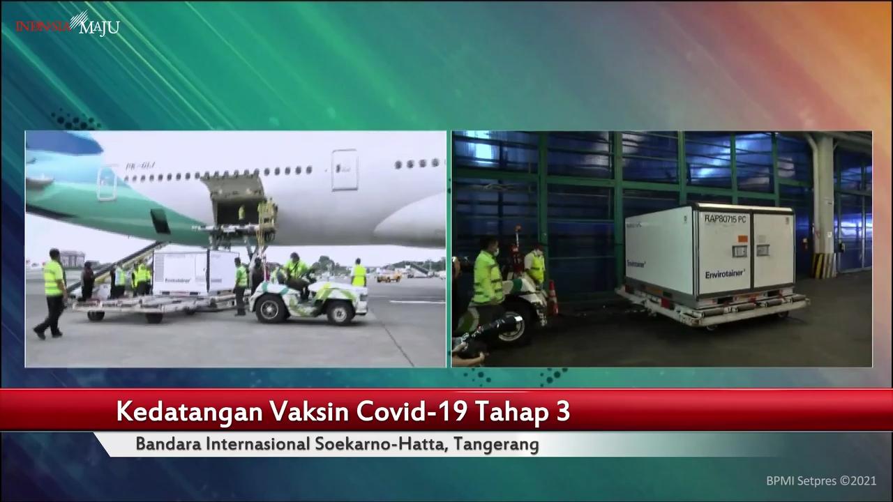 15 Juta Bahan Baku Vaksin Covid-19 Sinovac Tiba di Indonesia