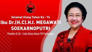 Megawati Ultah ke-74, PDI Perjuangan Hadiahkan Buku 'Merawat Pertiwi'