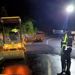 Perbaikan Jalan Ambles di Ruas Jalan Trunojoyo Kota Batu