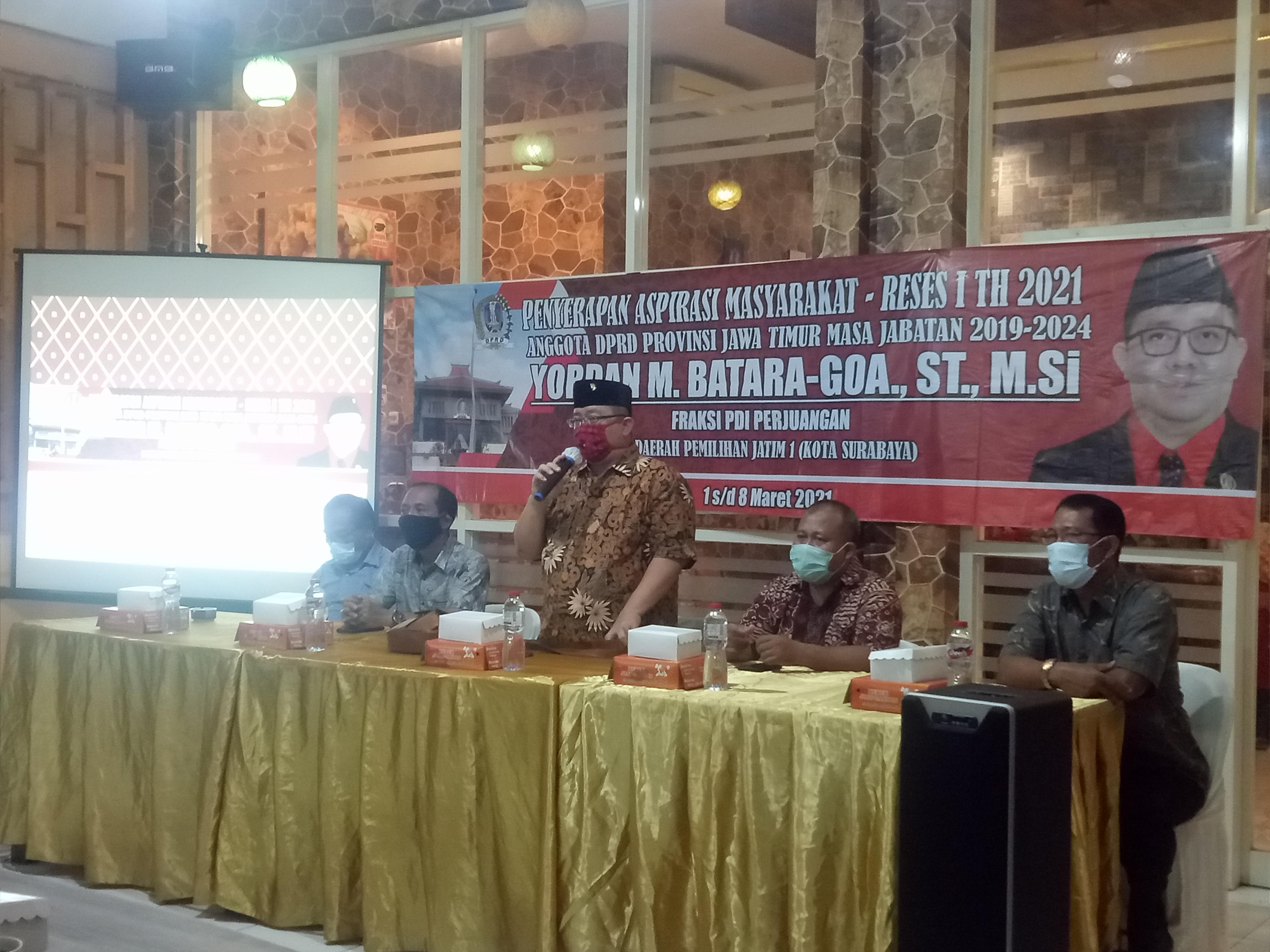 Gelar Reses, Yordan Tampung Keluhan Masyarakat Surabaya