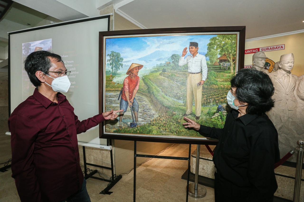 Adi Sutarwijono : Lukisan Pertemuan Bung Karno dan Marhaen Sarat Pesan Bersejarah