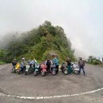 Komunitas Dolan Vespa Ngabuburit ke Lereng Gunung Wilis