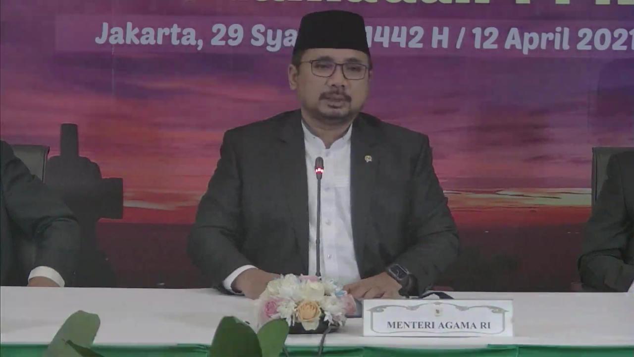 Pemerintah Tetapkan 1 Ramadan Jatuh pada 13 April 2021