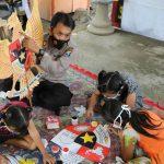 Hari Lahir Pancasila, Polsek Puncu Ajak Anak Mewarnai Lambang Negara