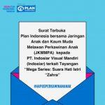 Plan Indonesia Bersama JKMMPA Kirim Surat Terbuka kepada Indosiar