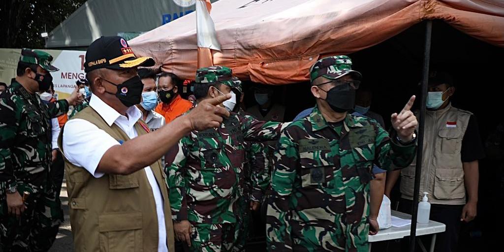 Kepala BNPB Tinjau RS Lapangan Indrapura