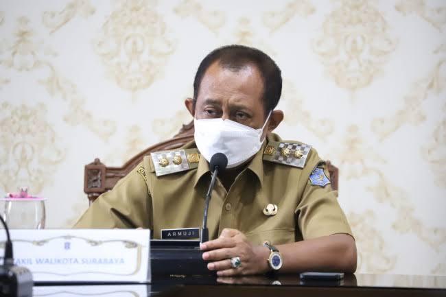 Wawali Surabaya Pimpin Rakor, Bahas Pasokan Oksigen hingga Plasma Darah. Bagaimana Hasilnya?