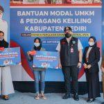 Pemkab Kediri Berikan Bantuan Modal pada Pedagang dan Pelaku UMKM