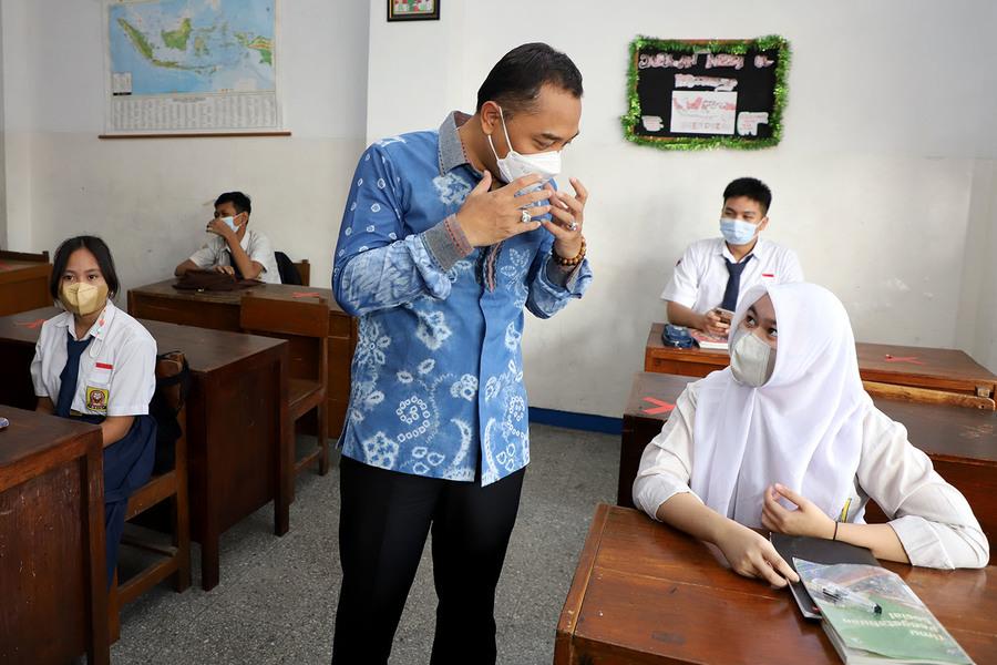 Begini Hasil Pantauan Pembelajaran Tatap Muka Hari Pertama di Surabaya